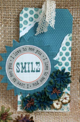 Blue smile tag