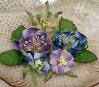 Blooms x 5 purple & blue