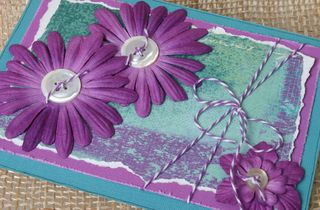 Purple layers card coredinations