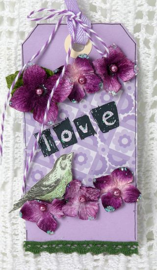 Purple tag w hydrangeas