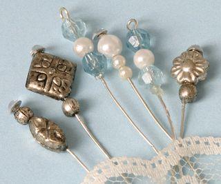 Blue pins beauty too