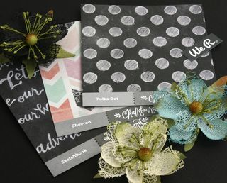 Chalkboard with Textures flowers