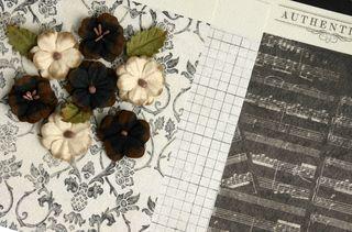 Chalkboard paper with Darj flowers