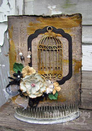 Grunge birdcage