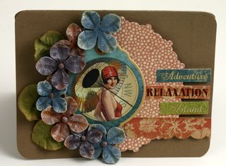 Hydrangea card with G45 papers brighter