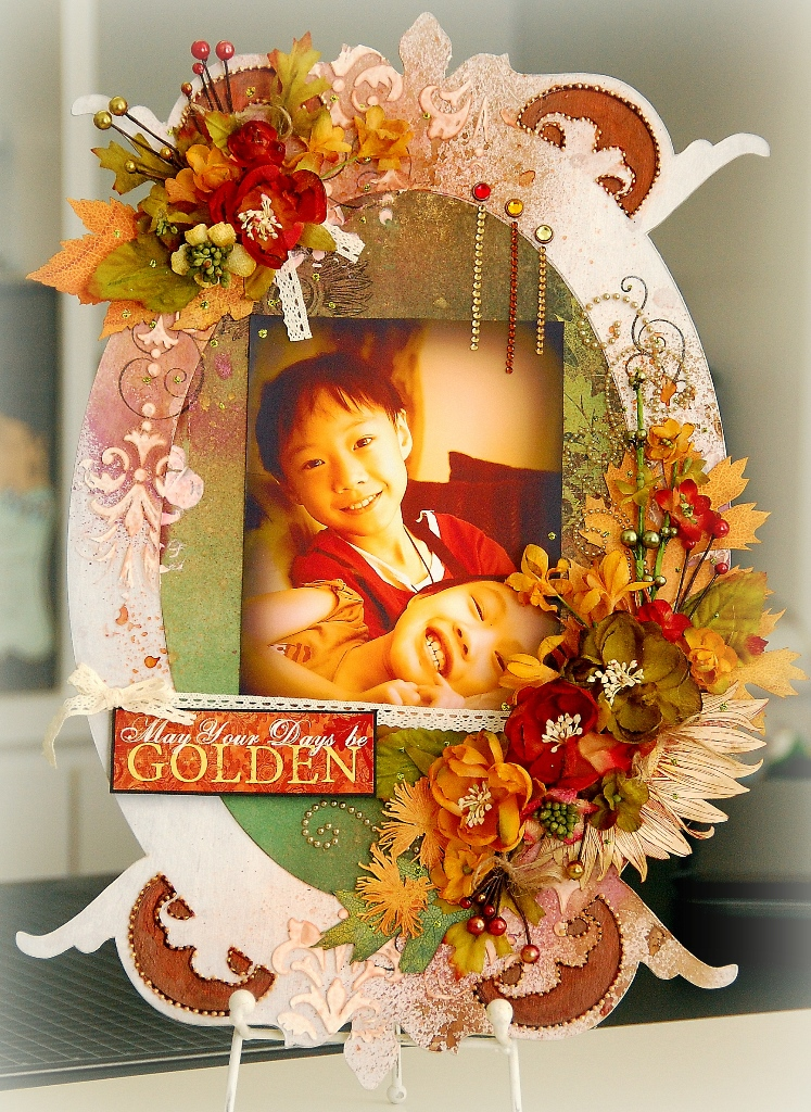 May Your Days Be Golden Altered Frame(resize)