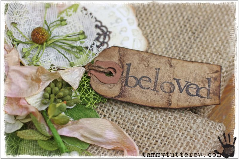 Tammy Tutterow   Beloved Hanging Canvas featuring Petaloo 1