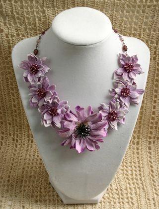 Necklace Purple front Beauty shot