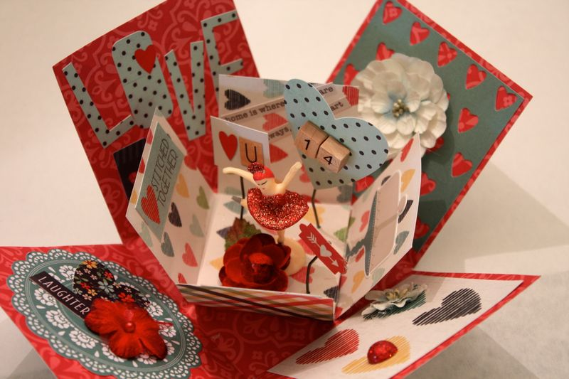 Denise Hahn Petaloo Simple Stories Homspun exploding box valentine - 29