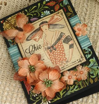 Couture card with Burlap peach smaller