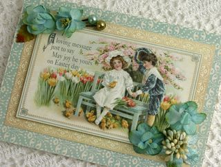 BEAUTY Easter card with Botanica flwoers close up smaller