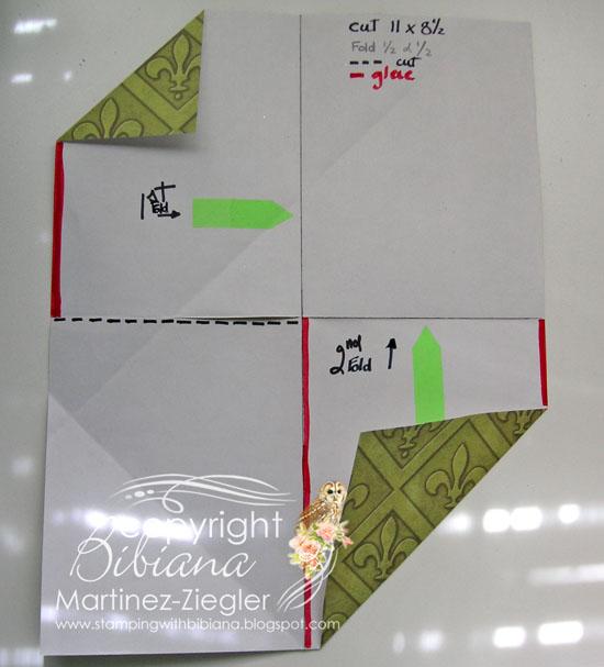 Diagonal double pocket step 1