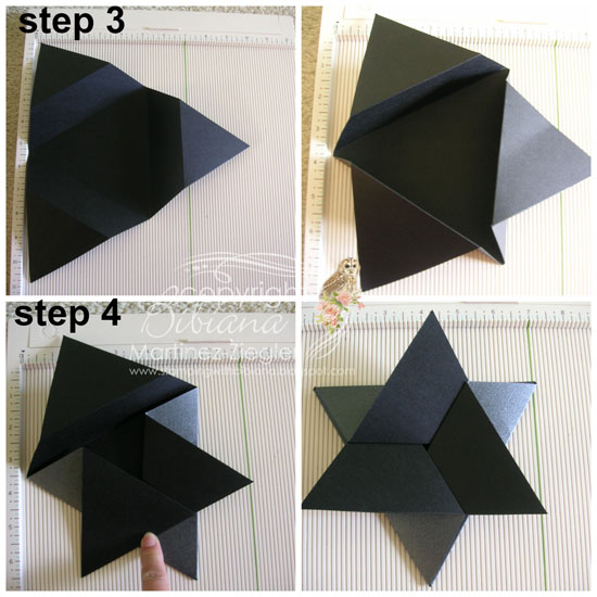 Triangular star step 3-4