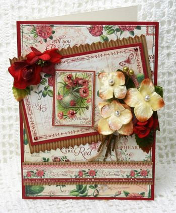 BEAUTY Valentines Card hydrangea picks smaller