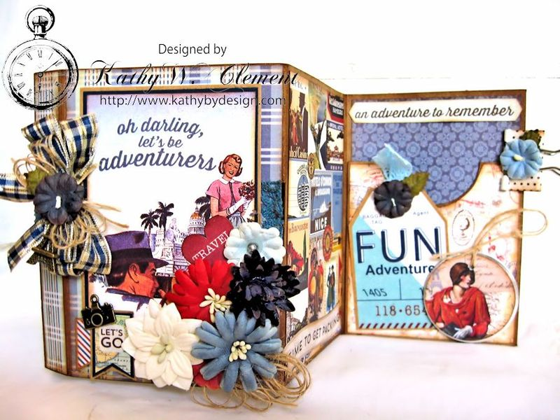 Authentique Petaloo Blog Hop Travel Album 11