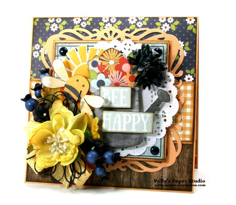 Bee Happy Card Simple Stories Petaloo 1