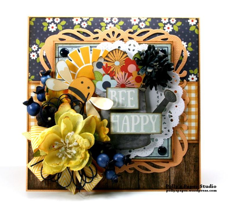 Bee Happy Card Simple Stories Petaloo 2