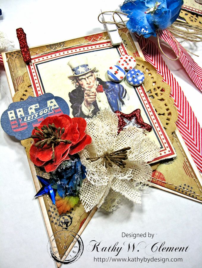 4th of July Banner by Kathy Clement for Petaloo International Product Authentique Honor Photo 7