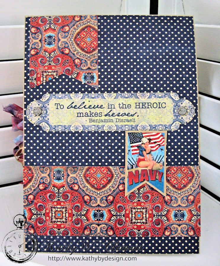 Cherish 4th of July card by Kathy Clement fo Really Reasonable Ribbon Summer Flowers Challenge Product Authentique Honor 04jpg