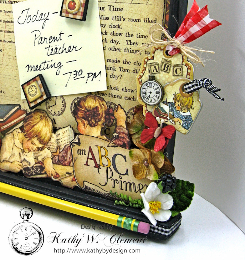 Back to School Cork Board, ABC Primer, By Kathy Clement, Product by Petaloo and Graphic 45 Photo 2
