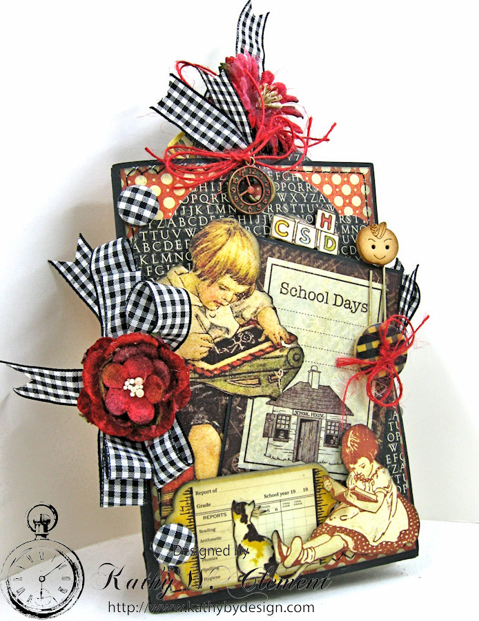 Back to School Mini Album, ABC Primer, By Kathy Clement, Product by Petaloo and Graphic 45 Photo 1