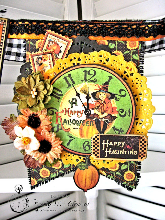 Happy Haunting Halloween Banner, Happy Hauntings, by Kathy Clement for Really Reasonable Ribbon, Product by Graphic 45, Photo 5
