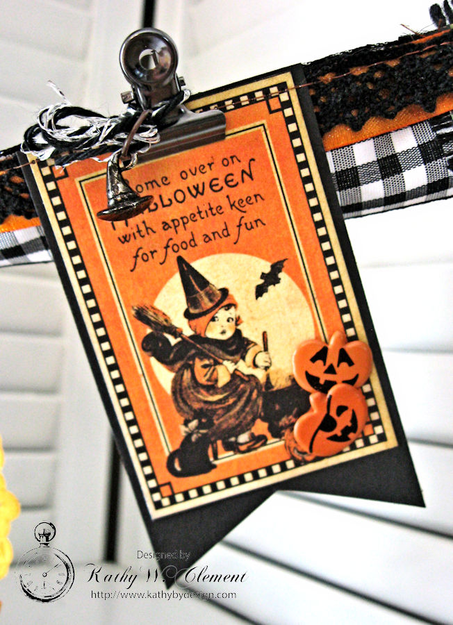 Happy Haunting Halloween Banner, Happy Hauntings, by Kathy Clement for Really Reasonable Ribbon, Product by Graphic 45, Photo 7