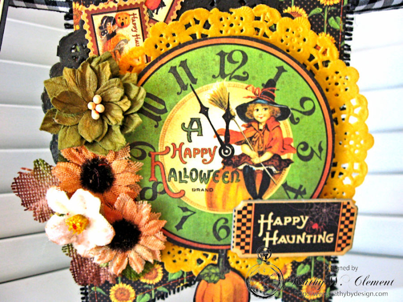 Happy Haunting Halloween Banner, Happy Hauntings, by Kathy Clement for Really Reasonable Ribbon, Product by Graphic 45, Photo 11