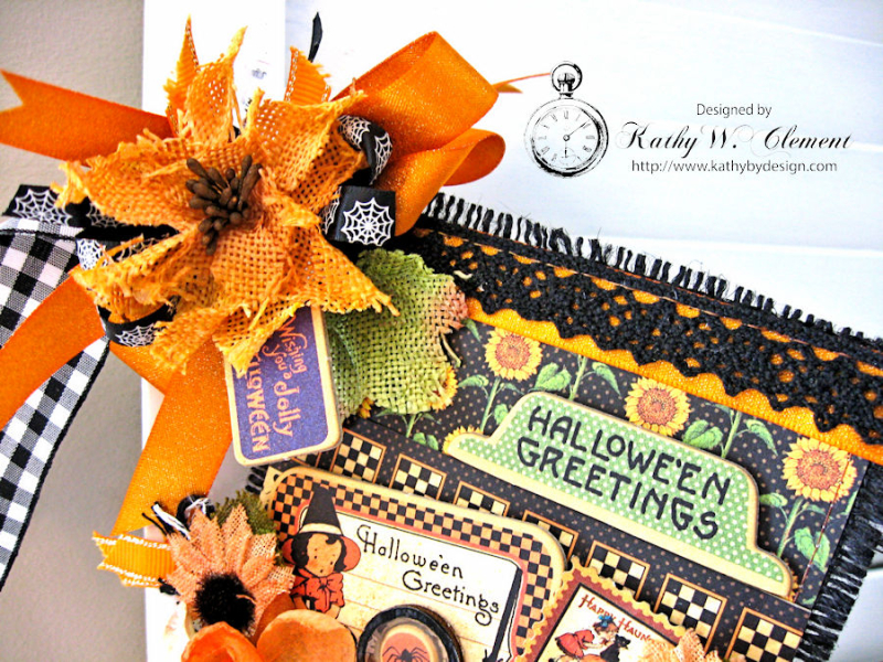 Happy Haunting Halloween Banner, Happy Hauntings, by Kathy Clement for Really Reasonable Ribbon, Product by Graphic 45, Photo 12