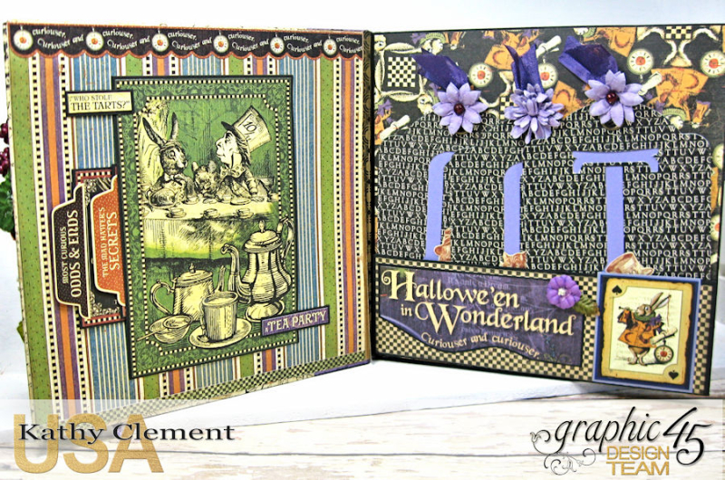 Halloween in Wonderland Mini Album, Halloween in Wonderland, by Kathy Clement,Product by Graphic 45, Photo 5