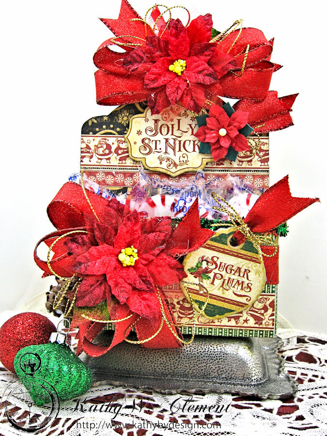 Sugarplum Treats Caddy, Saint Nicholas, by Kathy Clement for Petaloo G45 Blog Hop, Product by Graphic 45, Photo 1