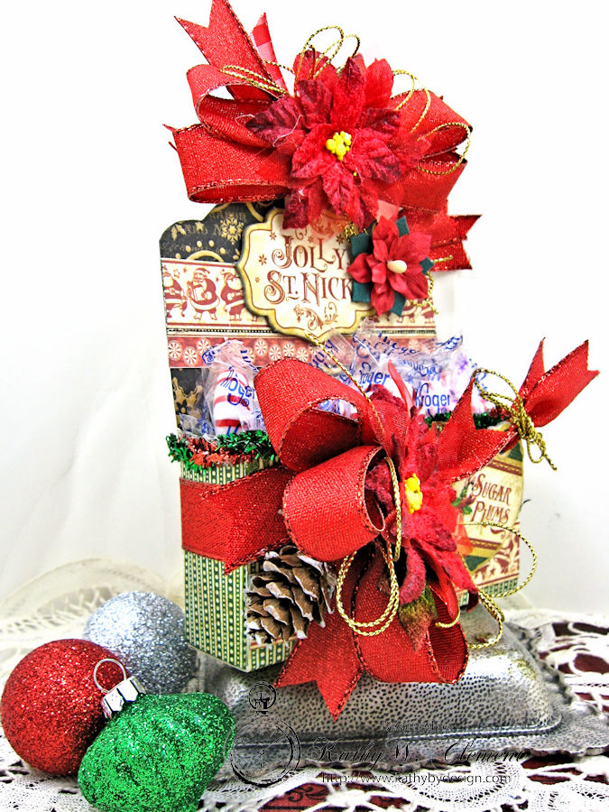 Sugarplum Treats Caddy, Saint Nicholas, by Kathy Clement for Petaloo G45 Blog Hop, Product by Graphic 45, Photo 3