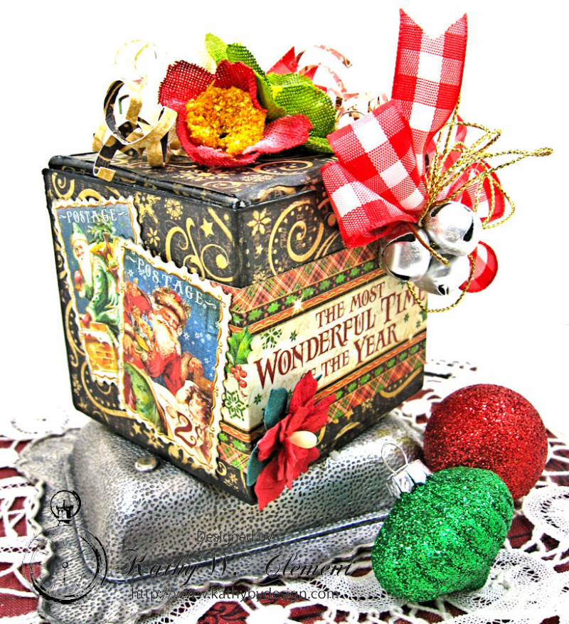 Sweet Treats Chocolate Box, Saint Nicholas, by Kathy Clement for Petaloo G45 Blog Hop, Product by Graphic 45, Photo 3