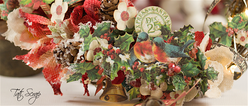 Tati, Christmas Wreath, Product by Petaloo & Graphic 45, Photo 2