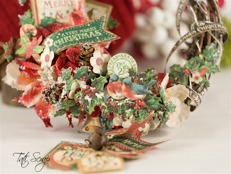 Tati, Christmas Wreath, Product by Petaloo & Graphic 45, Photo 3