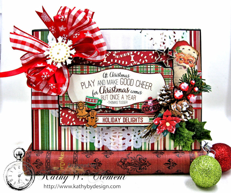 Cookies for Santa Folio, Retro Christmas, by Kathy Clement, Product by Petaloo and Authentique, Photo 1