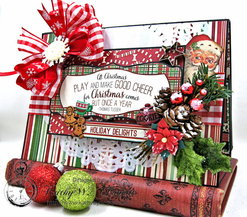 Cookies for Santa Folio, Retro Christmas, by Kathy Clement, Product by Petaloo and Authentique, Photo 3