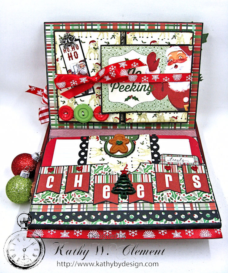 Cookies for Santa Folio, Retro Christmas, by Kathy Clement, Product by Petaloo and Authentique, Photo 4