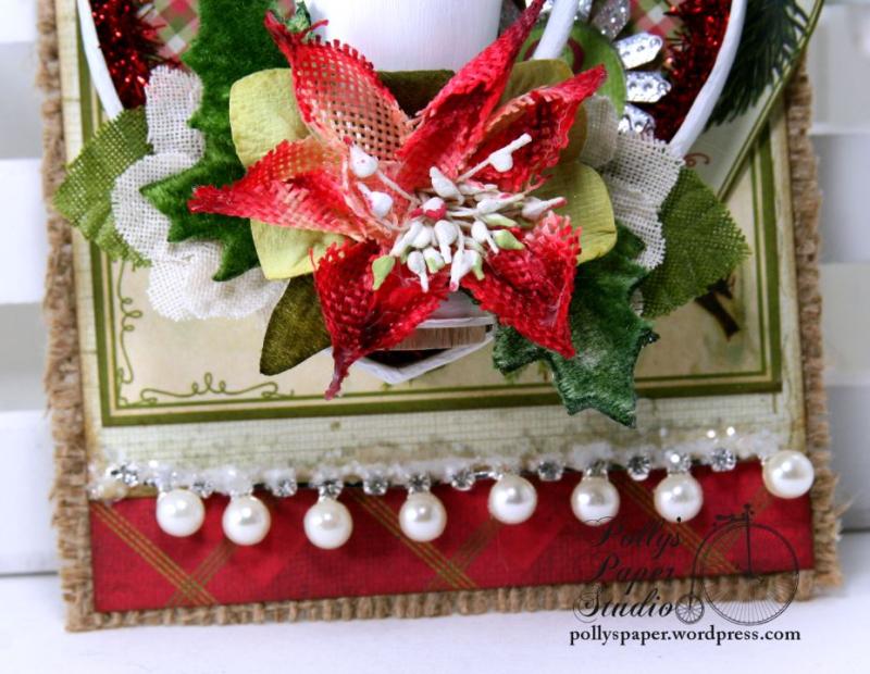 Glad Tidings Trophy Shadow Box Tag Christmas Home Decor Polly's Paper Studio 04