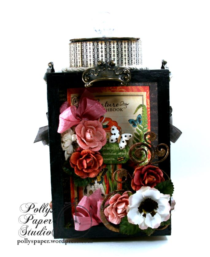 Natures Skethcbook Florals Spinning Shadow Box Display Polly's Paper Studio 03
