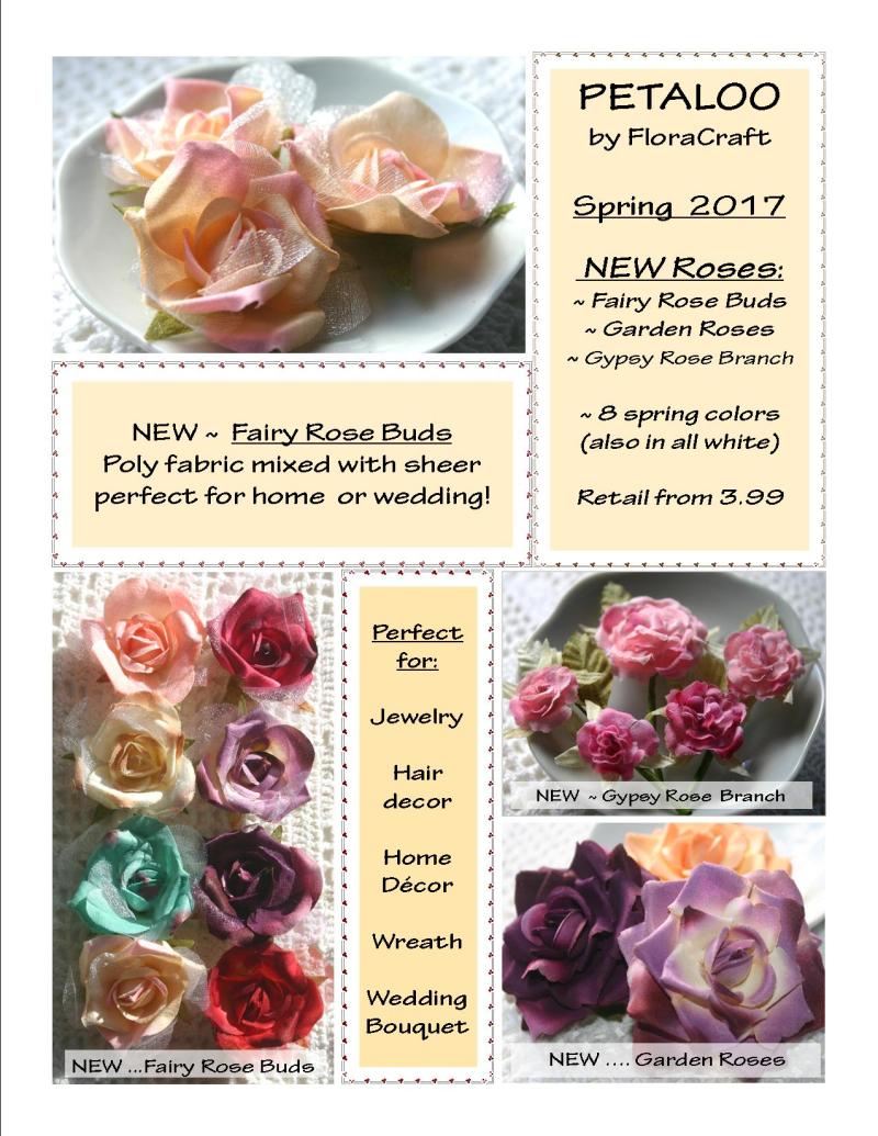 CONSUMER ~ Spring Roses  ~ SNEEK Peek SPRING  2017