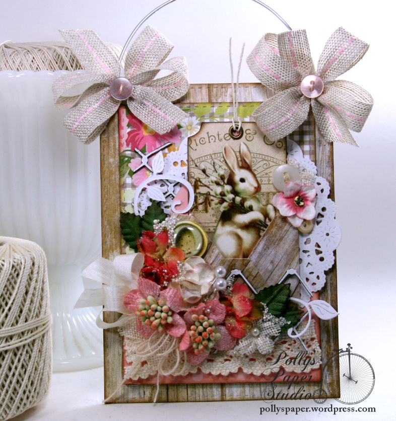Easter Wall Hanging Holiday Home Decor Polly's Paper Studio 03