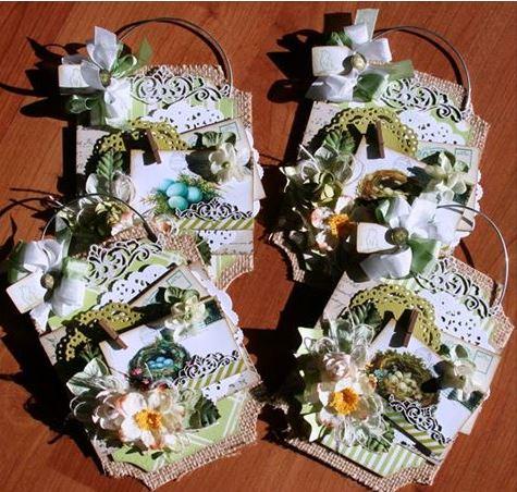 Spring Tags Polly's Paper Studio Petaloo