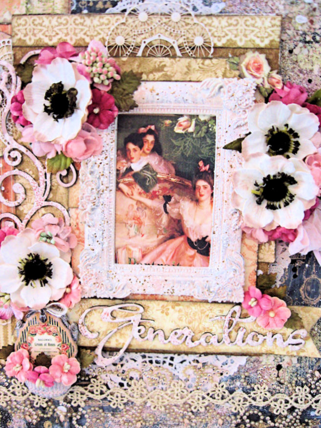 Generations Layout with Graphic 45 Portrait of a Lady by Kathy Clement for Petaloo International Photo 3