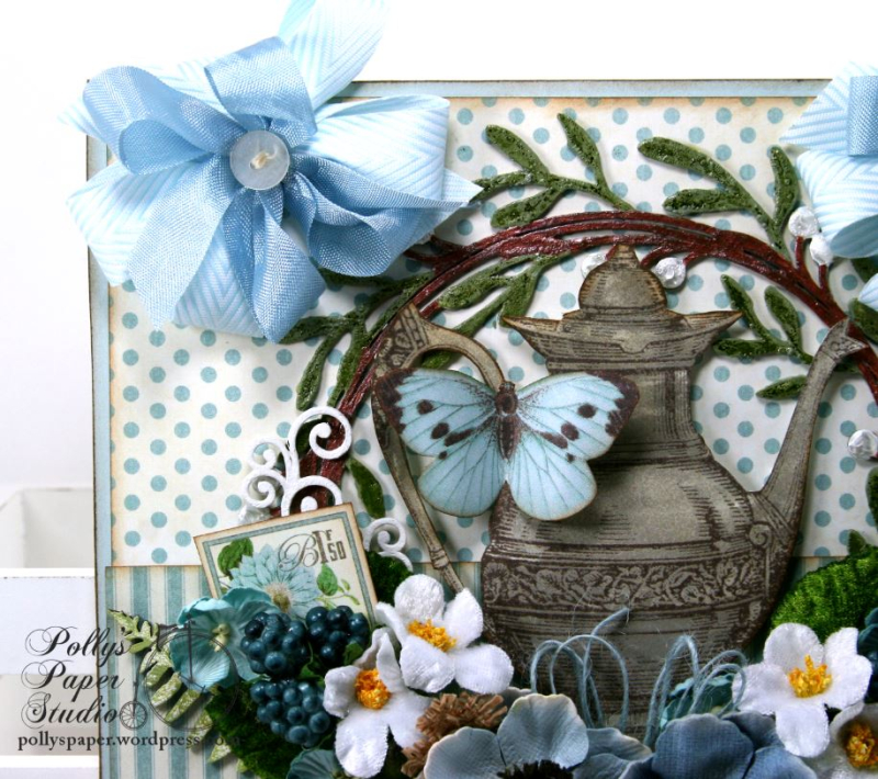 Mother's Day Tea Wall Hanging Petaloo Creative Embellishments Polly's Paper Studio 04