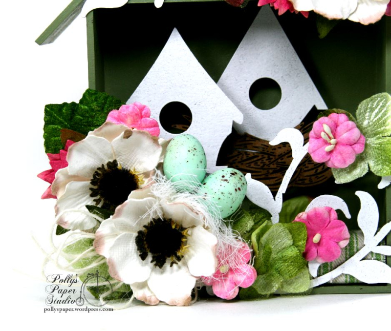 Spring  Birdhouse Shadow Box Polly's paper Studio 05