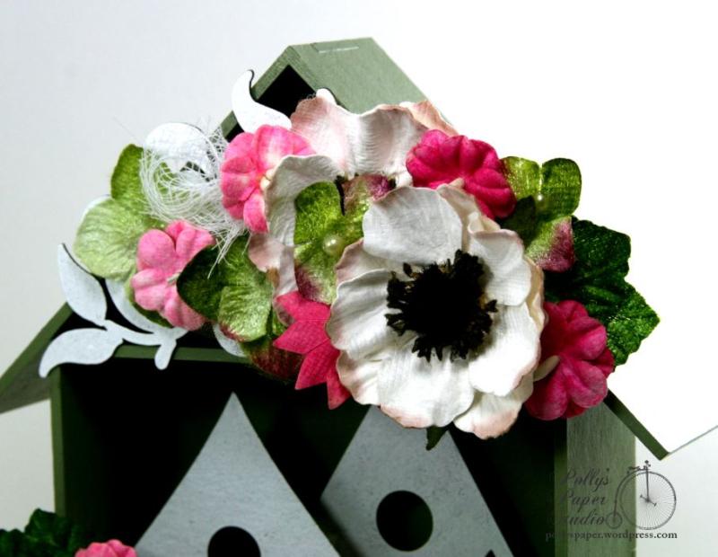 Spring  Birdhouse Shadow Box Polly's paper Studio 04
