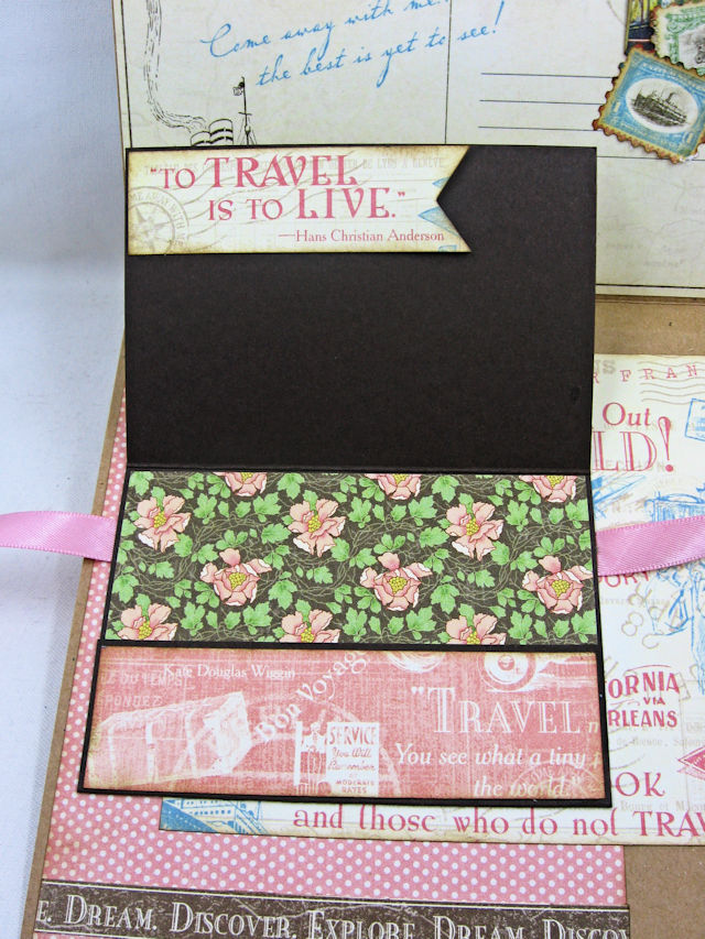 Look Out World Greeting Card with folios Come Away with Me by Kathy Clement Product by Graphic 45 Photo 8