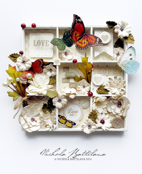 "Petite print tray with Petaloo and Authentique ""Faith"" - Nichola Battilana"