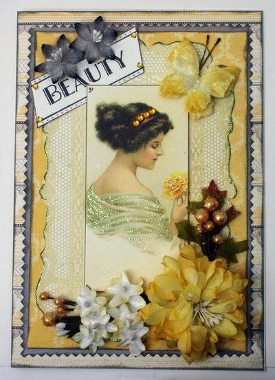 BEAUTY card w Authentique